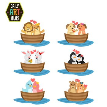 Boats animals cute clip. Boating clipart love boat