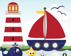 Free nautical clip art. Boating clipart marina