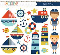 Boating clipart marina. Instant download baby boy