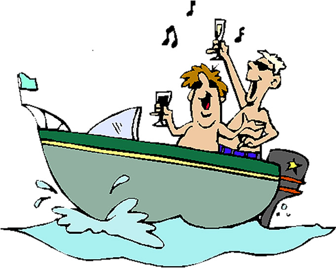 Boating clipart party boat. Booze operation dry water