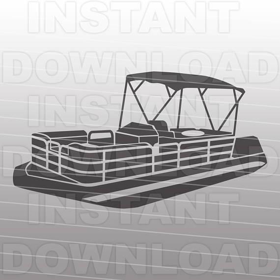Boating clipart pontoon. Boat svg file life