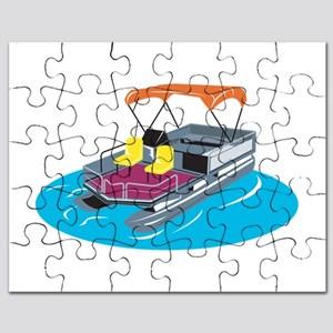 Boat puzzles cafepress retro. Boating clipart pontoon