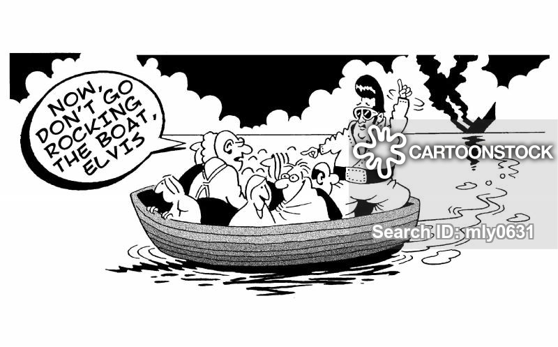 Cartoons and comics funny. Boating clipart rock the boat
