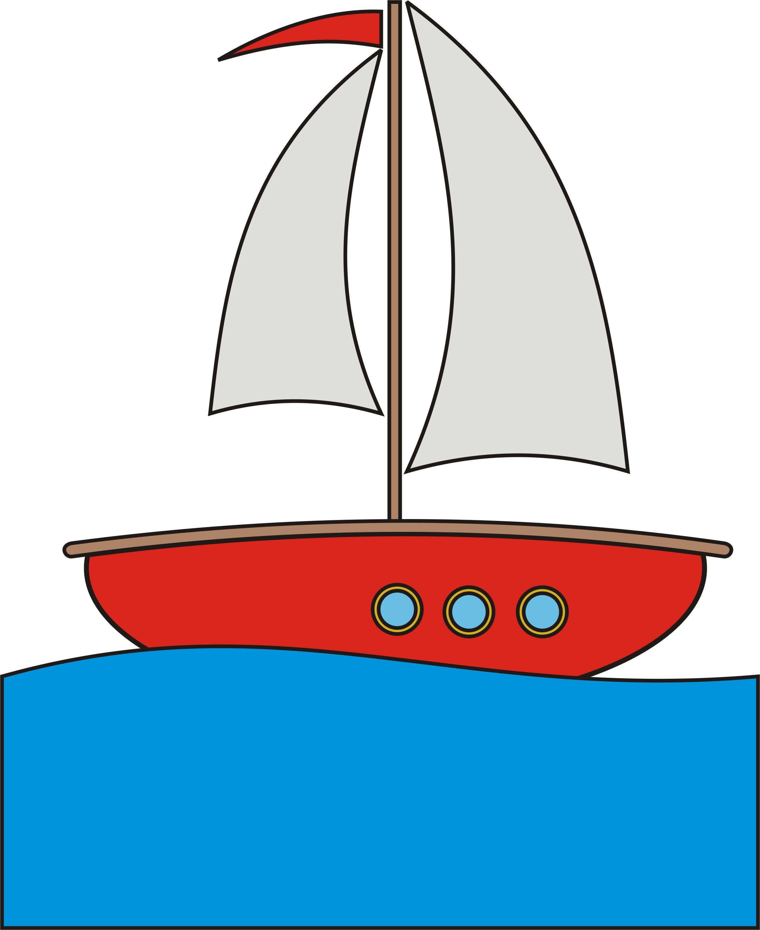 Cartoon pictures tug boats. Boating clipart rock the boat