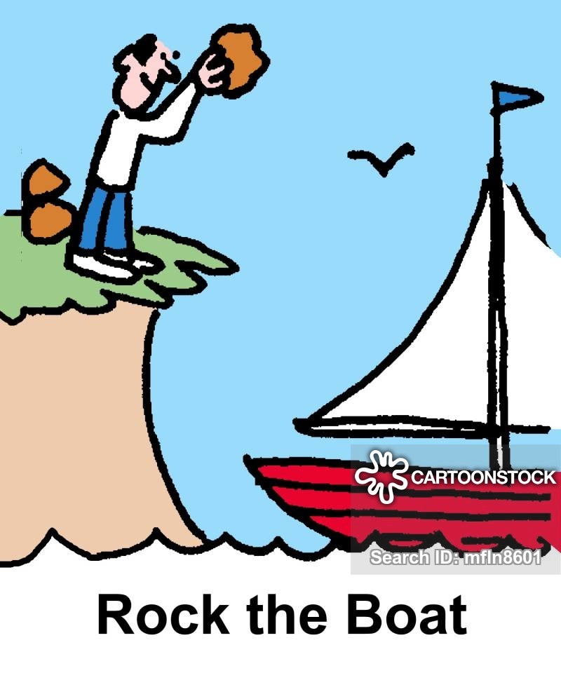 Boating clipart rock the boat. Cartoons and comics funny