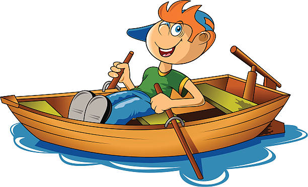Boating clipart row. Boat rowing pencil and