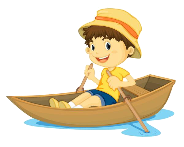 Rowing childrens song clip. Boating clipart row your boat