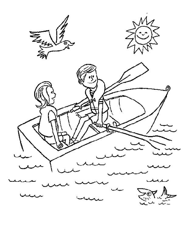 Coloring sheet everything preschool. Boating clipart row your boat