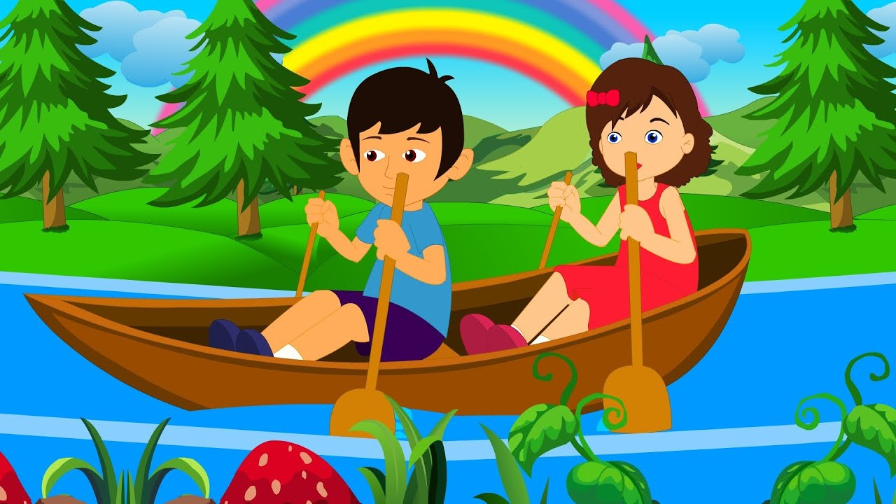 English nursery rhyme with. Boating clipart row your boat
