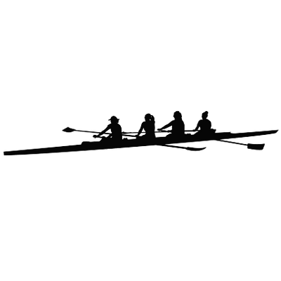 Silhouette clip art at. Boats clipart rowing boat
