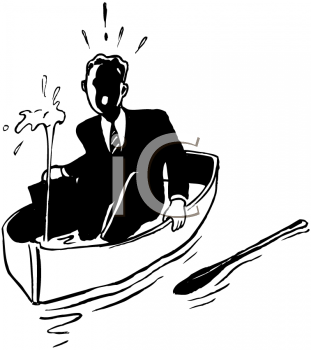 Funny sinking boat . Boating clipart royalty free
