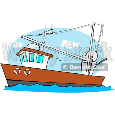 Boating clipart royalty free. Fishing boat cartoon download