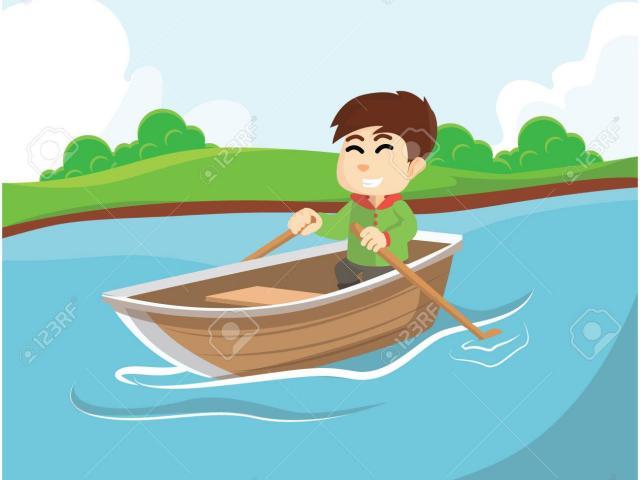 Boating clipart sampan. Row boat free on
