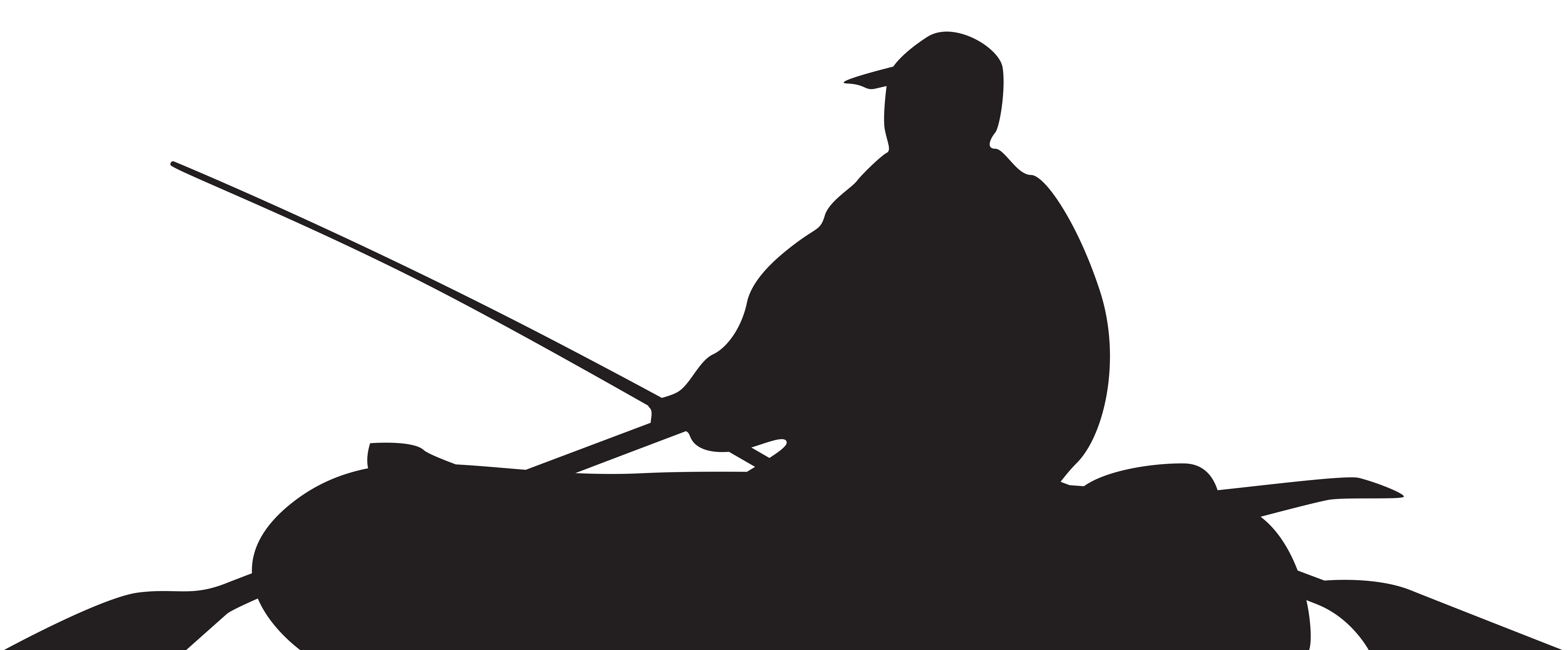 Fisherman and boat png. Boats clipart silhouette