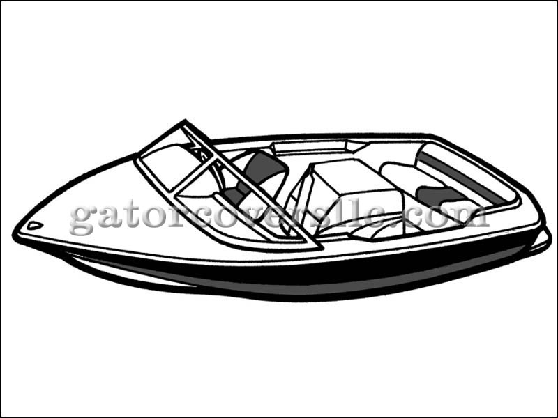 Semi custom covers blue. Boating clipart ski boat