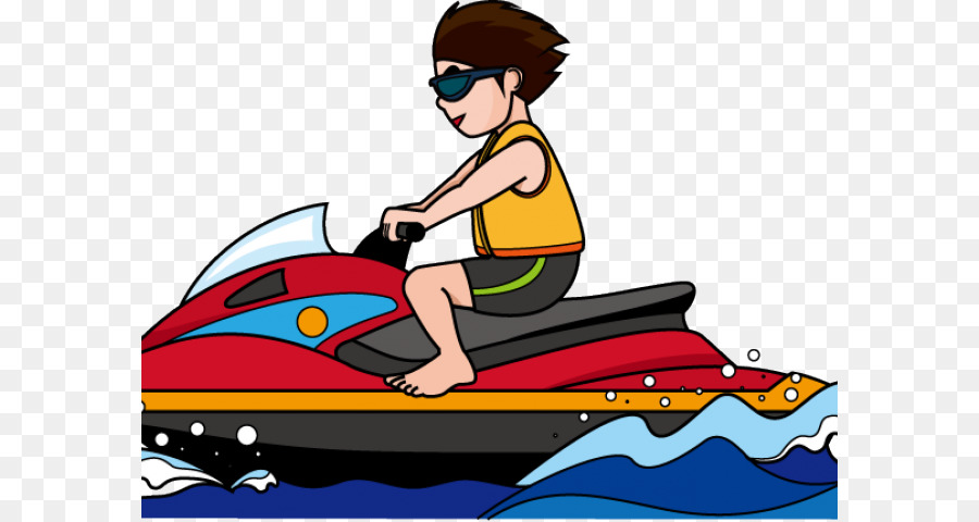 Personal watercraft . Boating clipart ski boat