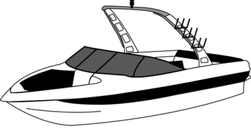Over the tower cover. Boating clipart ski boat