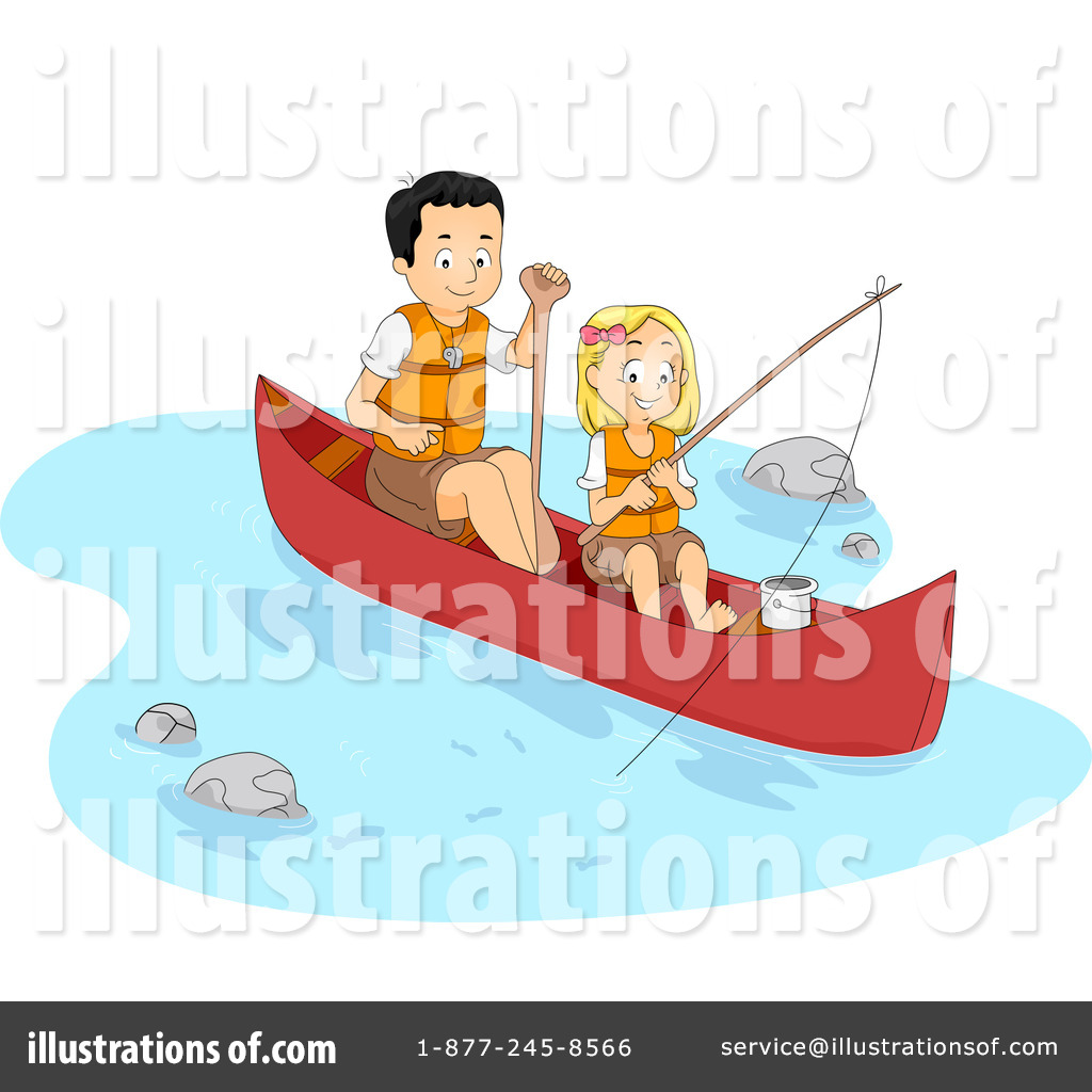 Camp illustration by bnp. Boating clipart summer