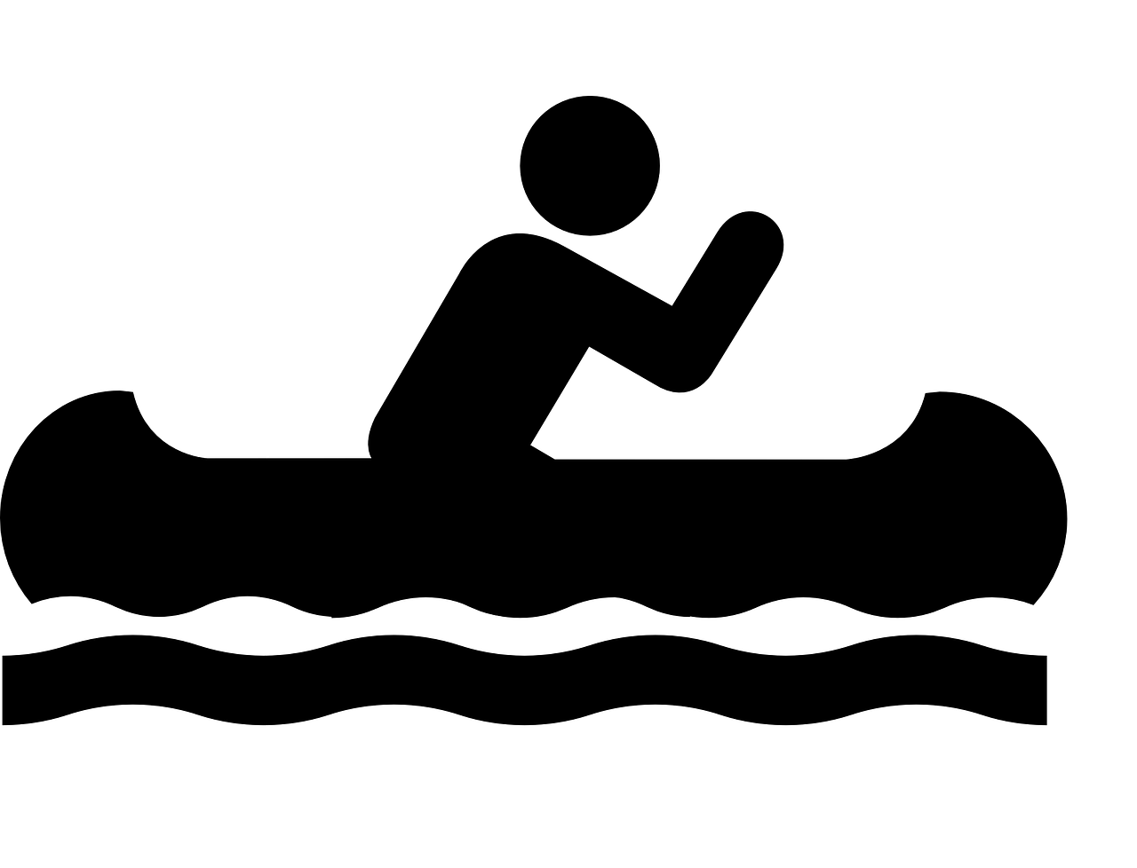Boating clipart water activity. Boat canoe sign symbol