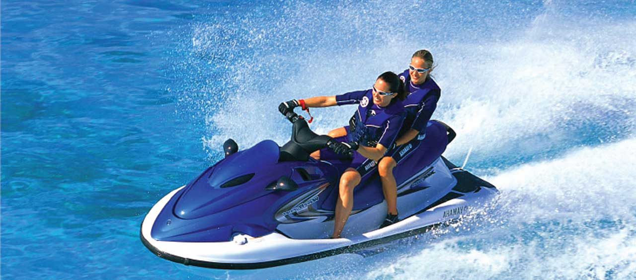 Wave runner jet ski. Boating clipart water scooter