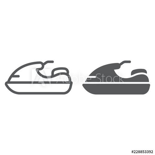 Jet ski line and. Boating clipart water scooter