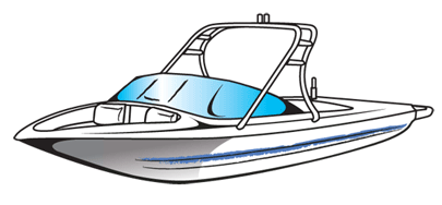 Covers wakeboard. Boats clipart ski boat