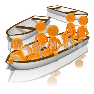 All in the same. Boat clipart stick figure