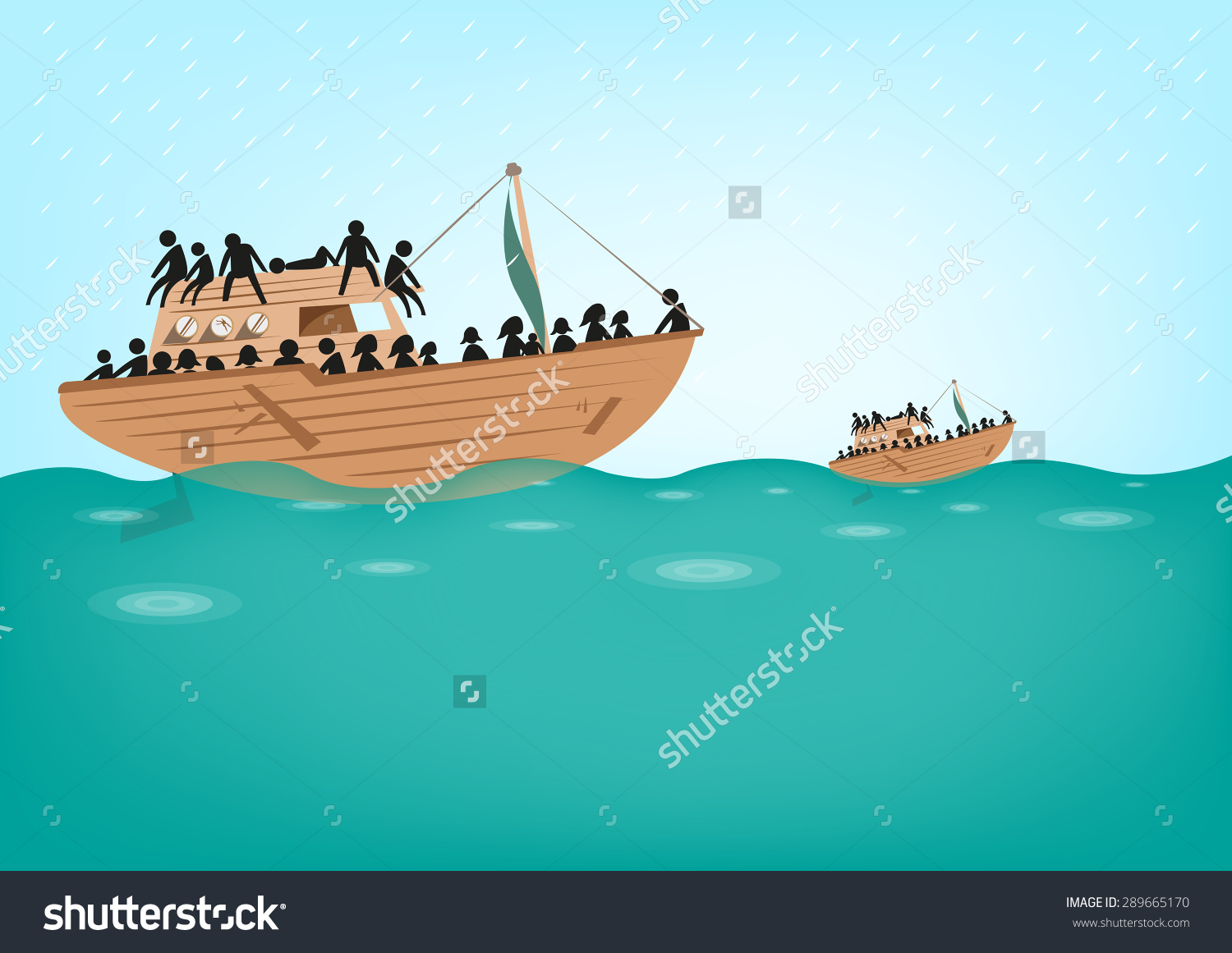 collection of refugee. Boating clipart watercraft