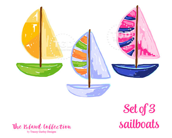 Boating clipart watercraft. Preppy sailboat clip art