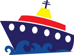 Free cruise ship image. Boat clipart clip art