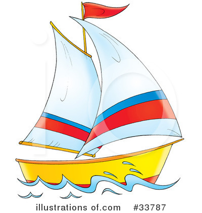 Clipart boat. Illustration by alex bannykh