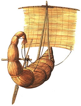 Papyrus boat ship made. Boats clipart ancient egyptian