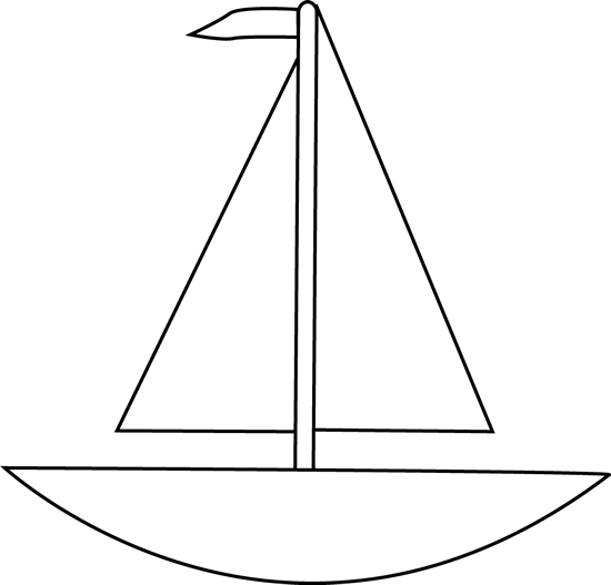 Boats clipart black and white. Boat clip art image