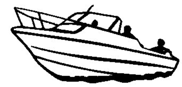 Boats clipart black and white. Speed boat letters yacht