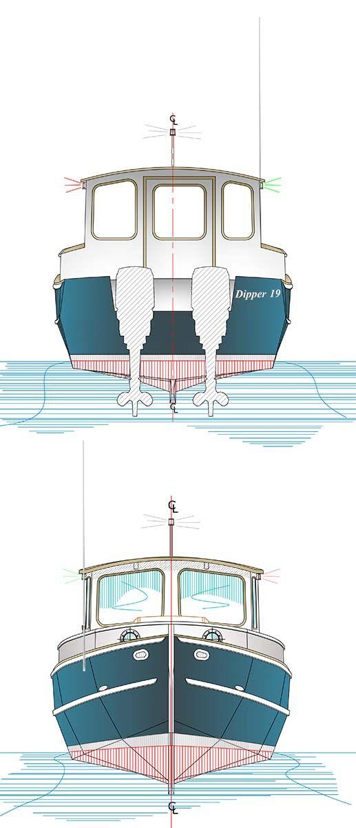 Boats clipart cabin cruiser. Dipper devlin designing boat