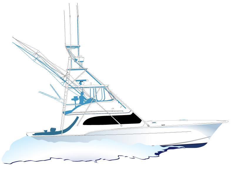 Fishing clipart sport fishing. Free cartoon boat download