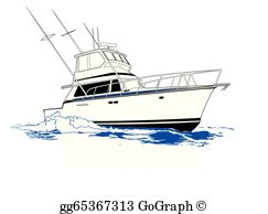 Fishing clip art royalty. Boats clipart charter boat