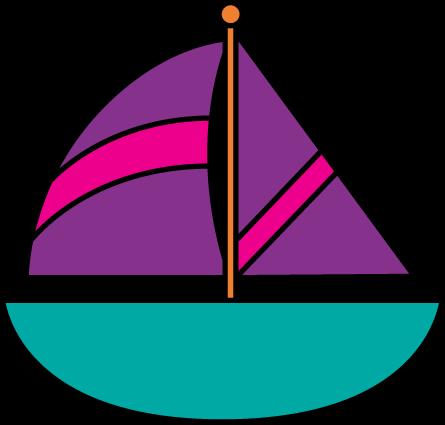Sailing boat library wake. Boats clipart clip art