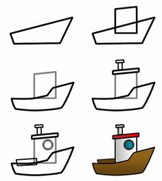 How to draw a. Boats clipart easy