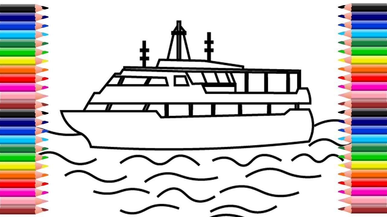 How to draw houseboat. Boats clipart house boat