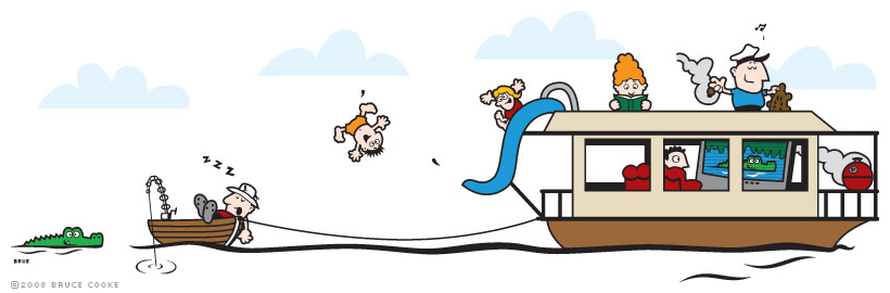 Boats clipart house boat. Bruce cooke designs illustration
