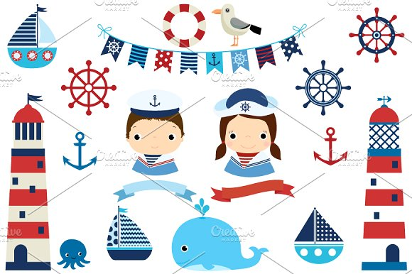 Boats clipart illustration. Nautical boat lighthouse illustrations