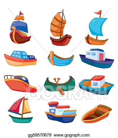 Boats clipart illustration. Vector stock cartoon boat