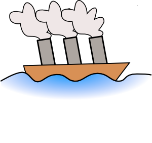Boats clipart line art. Steamer boat clip at