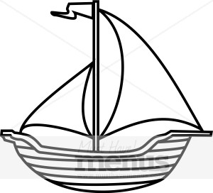 Boat clipart outline. Ship clip art panda