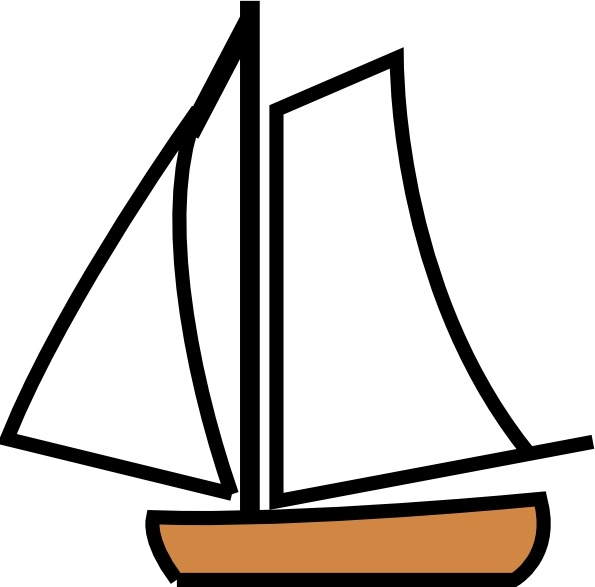 Boats clipart line art. Sailing boat clip free