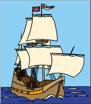Boats clipart mayflower. Clip art color i