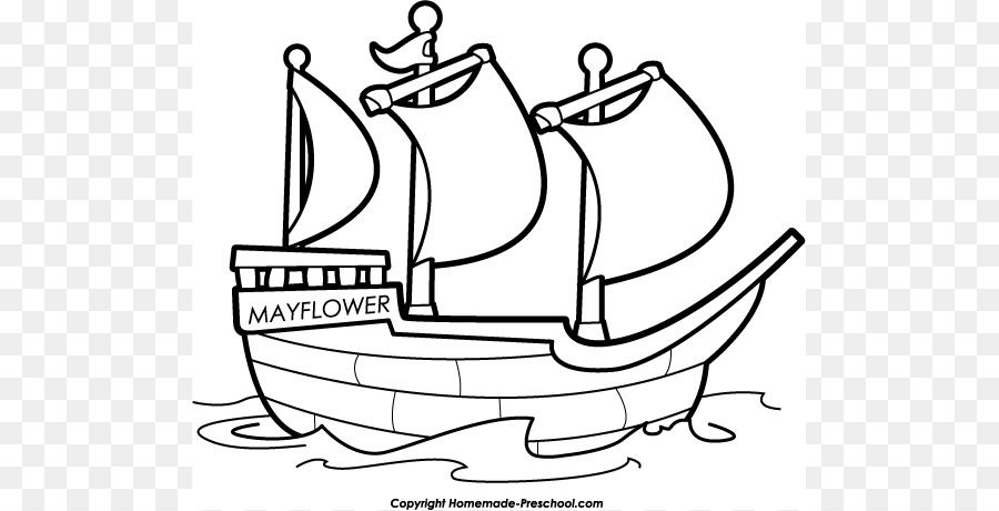 Ship boat black and. Boats clipart mayflower