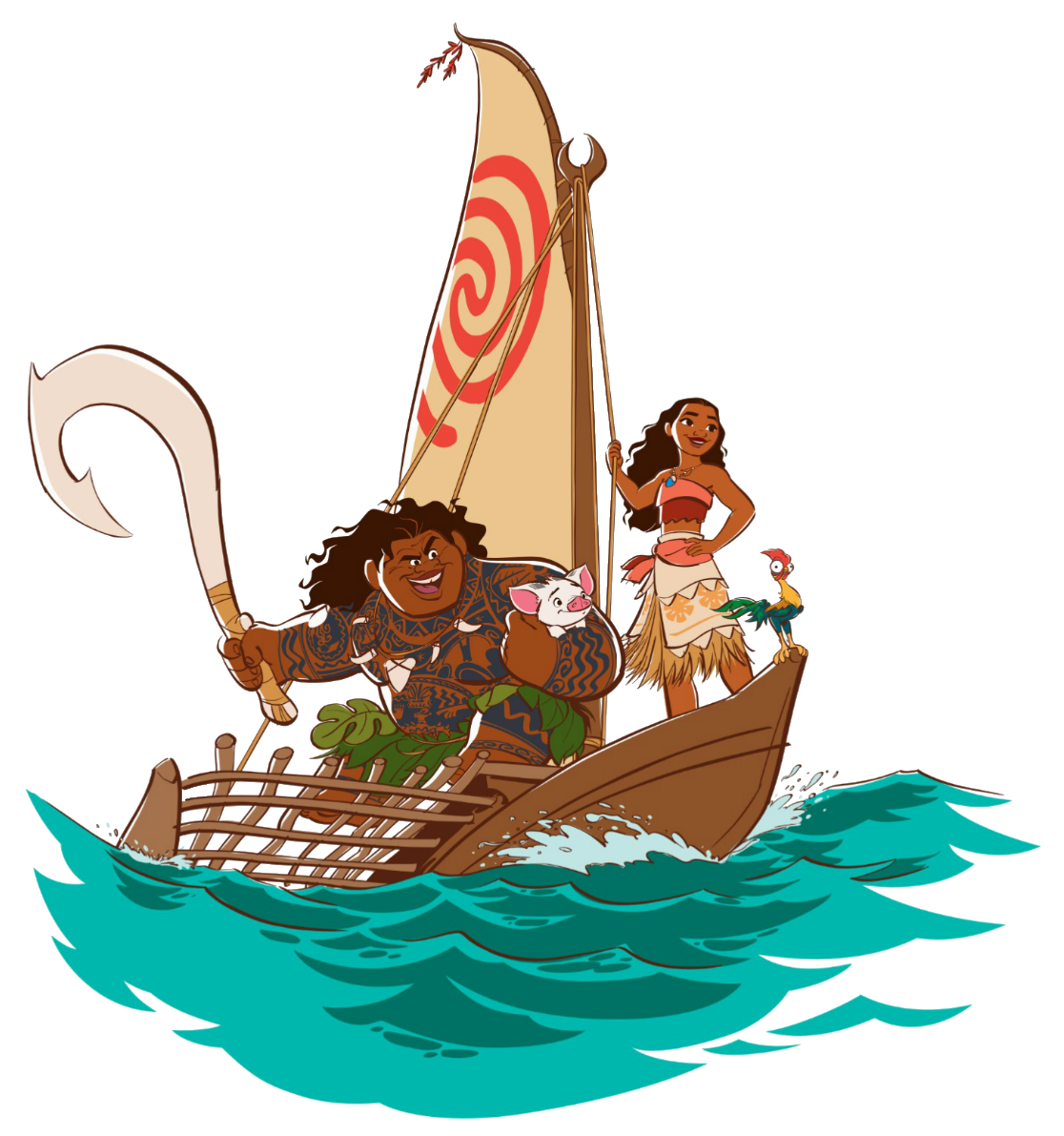 Boats clipart moana. Image s team png