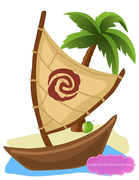 Maui party centerpiece supplies. Boat clipart moana